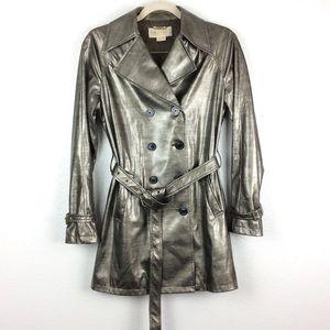 Michael Kors Snakeskin Belted Trench Coat